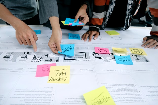 UX journey mapping