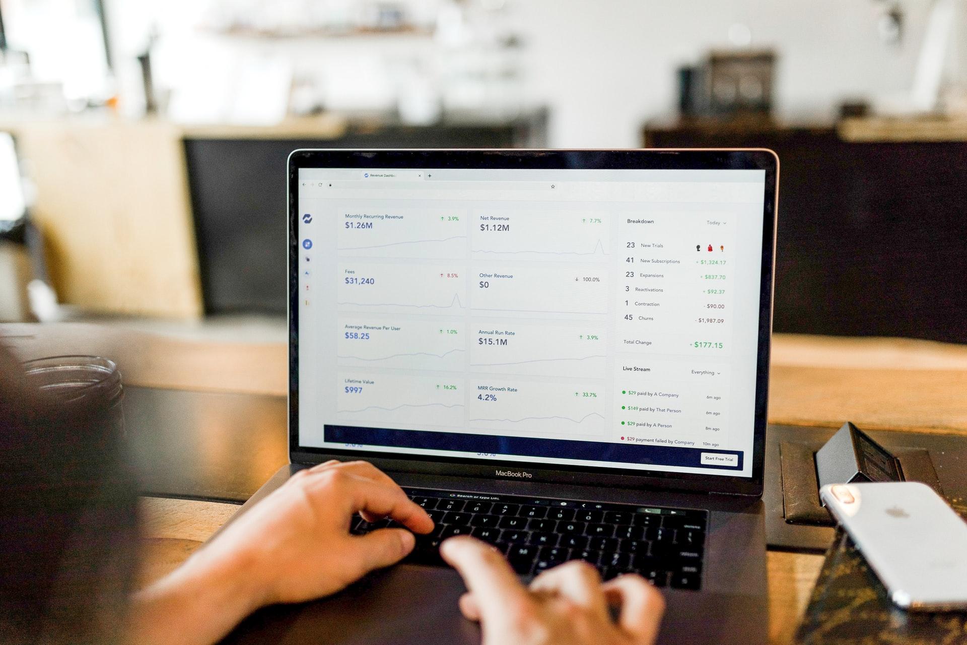 digital subscriptions on laptop
