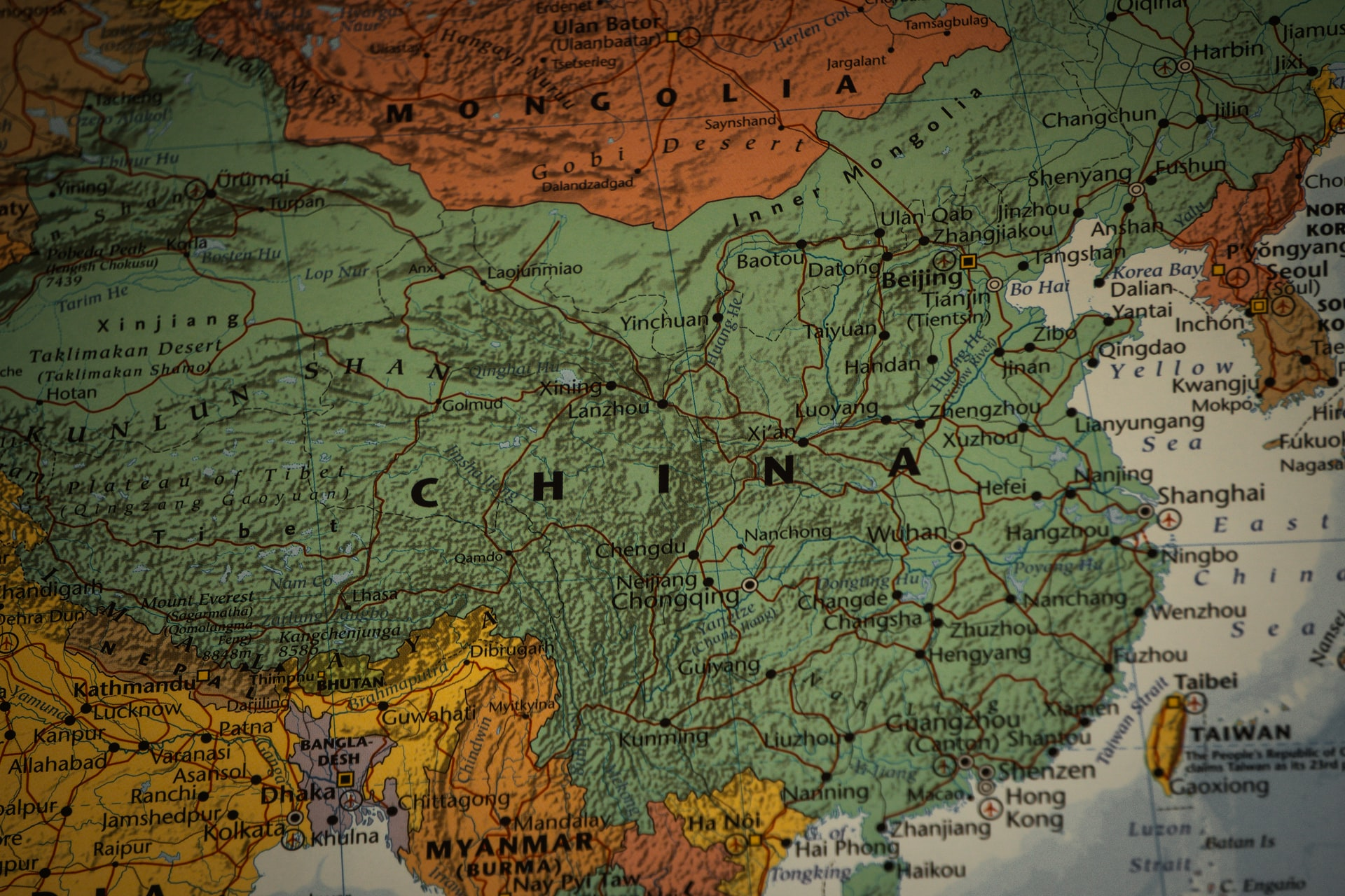China increases remote access to scientific information map of china