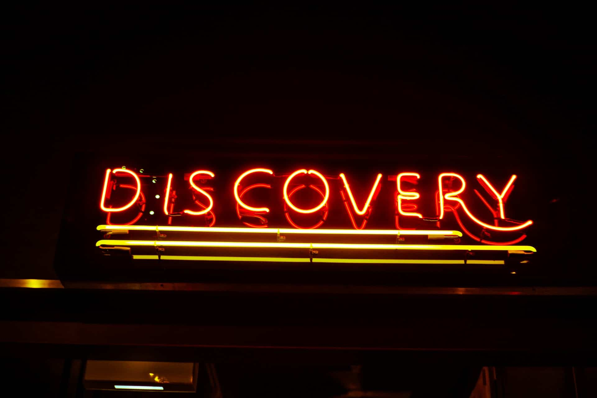 organization discovery service. discovery neon light sign