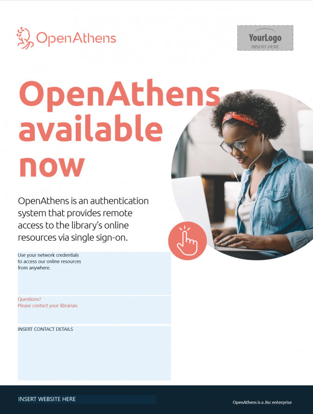 Promoting OpenAthens A4 poster