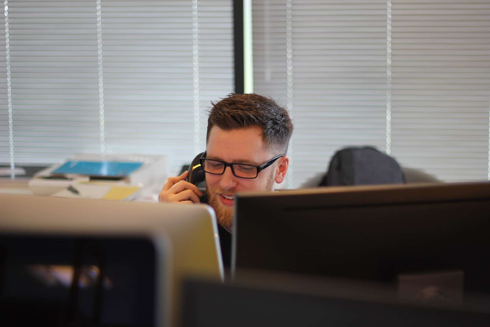 Person on the phone for support