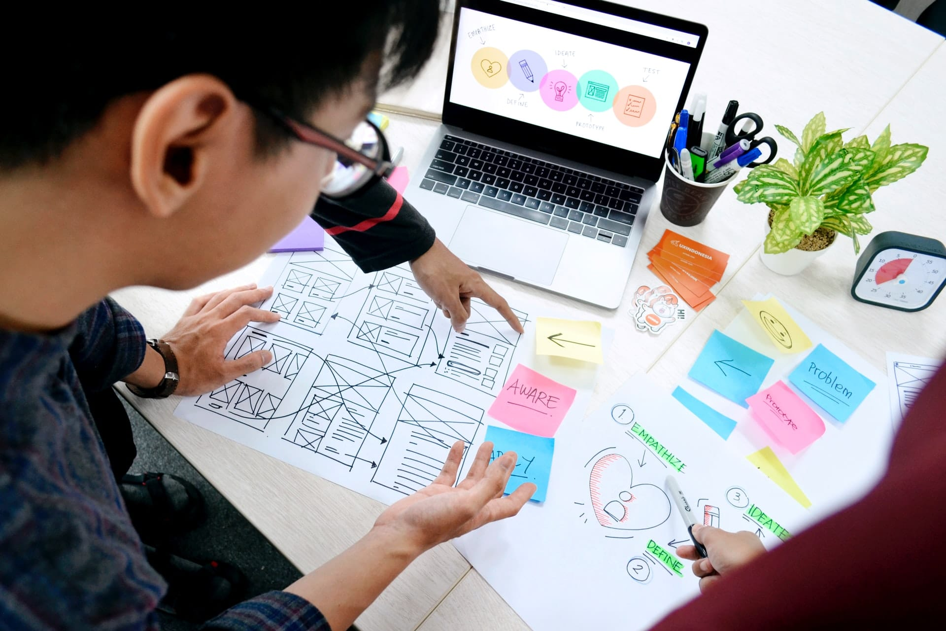 People working on UX design