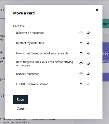 How to move a card in MyAthens