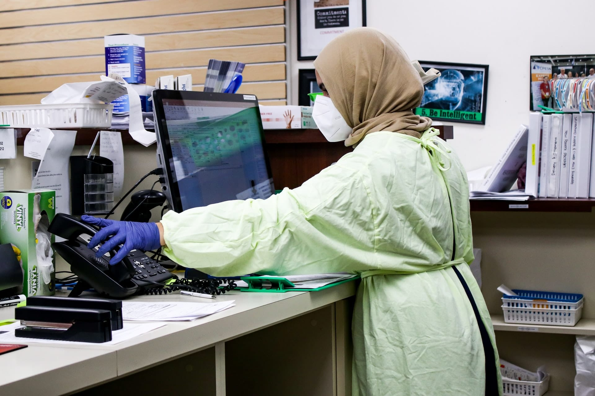 Pharmacy during pandemic.
